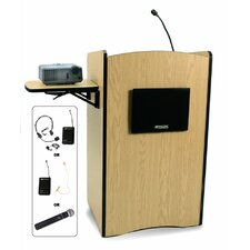 Victoria Wireless Sound Solid Wood Lectern