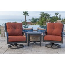 Indies Swivel Lounge Chair with Cushion (Set of 2)