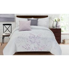 Adrien Lewis Adrie 5 Piece Full  Embroidered Comforter Set