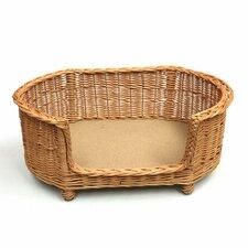 Luxury Pet Bed Basket Settee in Brown