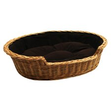 Dog Bed Basket with Cushion