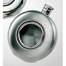 Stainless Steel Round Flask with Glass Front