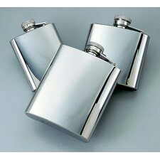 8 Oz. Stainless Steel Bright Flask