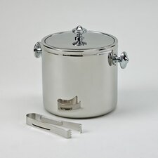 Stainless Steel Covered Ice Bucket with Tongs