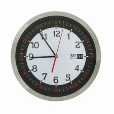 "11.8"" Stainless Steel Round Wall Hanging Clock"