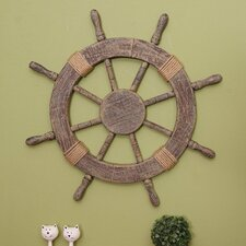 Ornamental Nautical Ship Steering Wheel Home Wall Decor