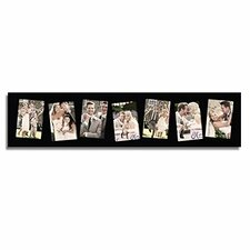 7 Opening Decorative Wood Wall Hanging Picture Frame