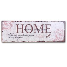 """Home Is Where Your Story Begins"" Wall Decor"