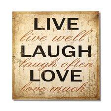 """""""Live Laugh Love"""" Wall Decor"""