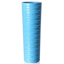 Decorative Wood Horizontal Wave Design Vase