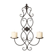 Iron Wall Sconce Candle Holder