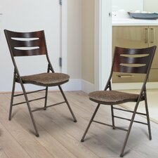 Tubular Steel Folding Chair (Set of 2)