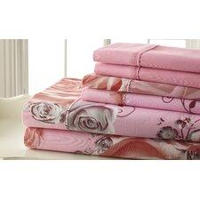 Palazzo Home Sheet Set in Pink & Gray