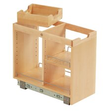 FindIT Kitchen Storage Organization Base Cabinet Pullout with Slide, Half Tray and Shelf