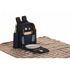 Millbrook Picnic Backpack with Waterproof Blanket Set for Two