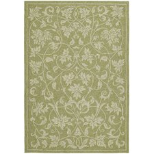 Home & Porch Presley Celery Floral Outdoor/Indoor Area Rug