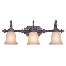 Old World 3 Light Wall Sconce