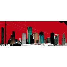 Limited Edition 'Red Houston' by Alicia Boles Graphic Art Plaque