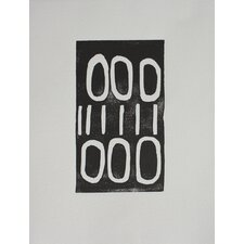 Limited Edition 'Black and White Lines and Circles' by Stacy Rajab Painting Print