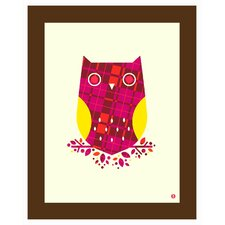 Limited Edition 'Pattern Series: Plaid Owl' by Shay Ometz and Jeff Barfoo Graphic Art
