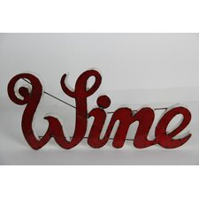 Wine Sign with Rebar Wall Décor