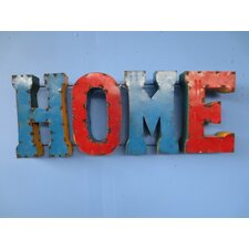 Home Sign with Rebar Wall Décor