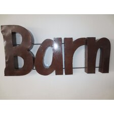 Barn Sign with Rebar Wall Décor