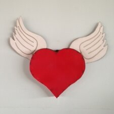Heart with Wings Wall Décor