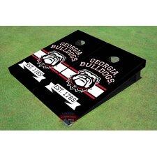 NCAA University Of Georgia Bulldog Mark Black Solid Cornhole Boards (Set of 2)