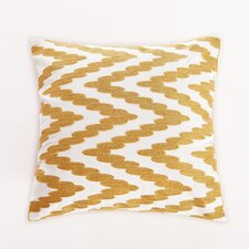 Embroidered Chevron Dot Cotton Throw Pillow