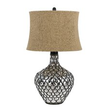 """Puebla 3 Way 30"""" H Table Lamp with Oval Shade"""