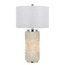 """Sapelo 3 Way Seashell 30"""" H Table Lamp with Drum Shade"""