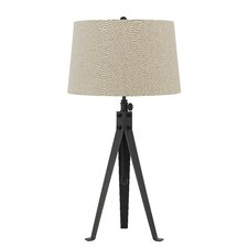 """Tripod 3 Way 32.5"""" H Table Lamp with Empire Shade"""