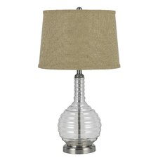 """3-Way Glass 28.5"""" H Table Lamp with Empire Shade"""