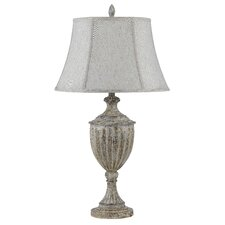 """Clayton 3-Way 33"""" H Table Lamp with Bell Shade"""