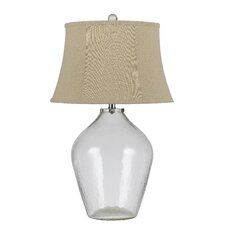 """Edison 3-Way Glass 28"""" H Table Lamp with Bell Shade"""