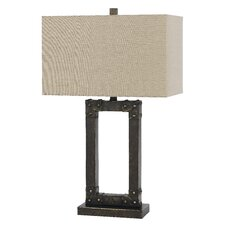 """Ovate Metal 29.5"""" H Table Lamp with Rectangular Shade"""