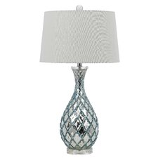 """Piraire Glass 29.5"""" H Table Lamp with Empire Shade"""