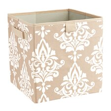 Premium 2 Handle Storage Bin in Damask French Vanilla