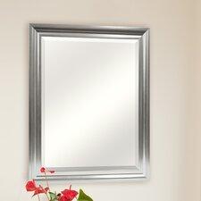 Satin Silver Beveled Mirror