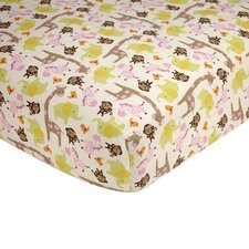 Jungle Fitted Crib Sheet