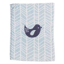 Bird Printed Plush Blanket