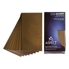 "Short Grain 6"" x 3"" Metal Tile in Brushed Bronze Kit"