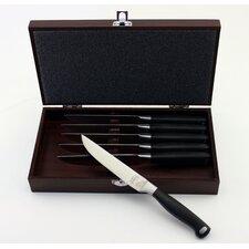 Bistro 6 Piece Steak Set with Wooden Case (Set of 6)