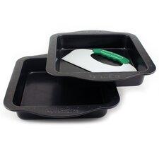 Perfect Slice 3 Piece Square Cake Pan Set