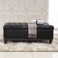Elegant Classic Tufted Wood Storage Bedroom Bench