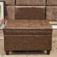 Classic Tufted Waxed Texture Storage Ottoman