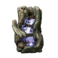 Fiber and Resin Tree Stump Waterfall Fountain