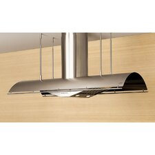 """Cheng Trapeze 48"""" 1000 CFM Island Range Hood in Stainless Steel"""