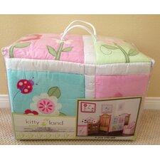 Pink Cotton 4 Peices Crib Bedding Set